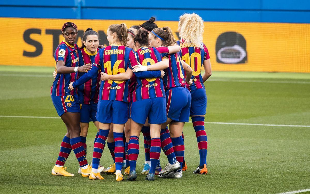 Barça Femenino - Rayo Vallecano: Consolidan el liderato con una goleada (7-0)