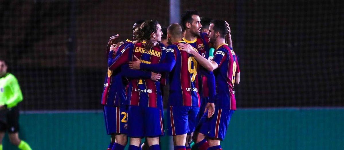Cornellà - FC Barcelona: Sufrido pase a los octavos de Copa (0-2)