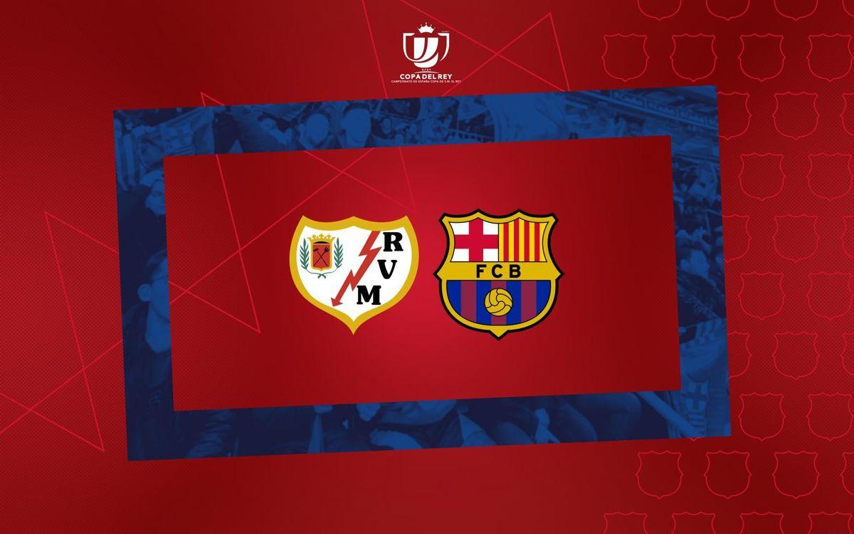 El Rayo Vallecano, rival del Barça als vuitens de la Copa