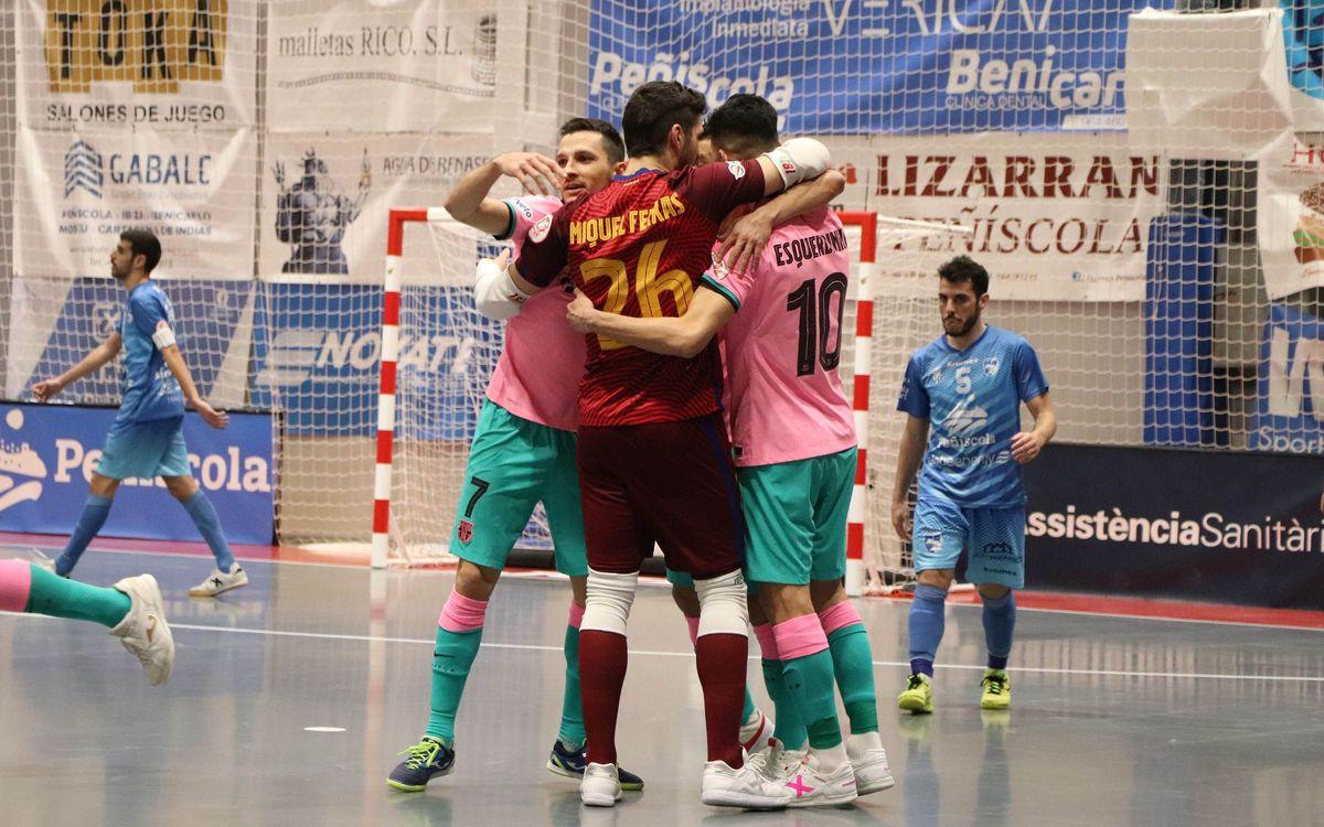 Peñíscola Globeenergy - Barça: Tres punts soferts (1-3)