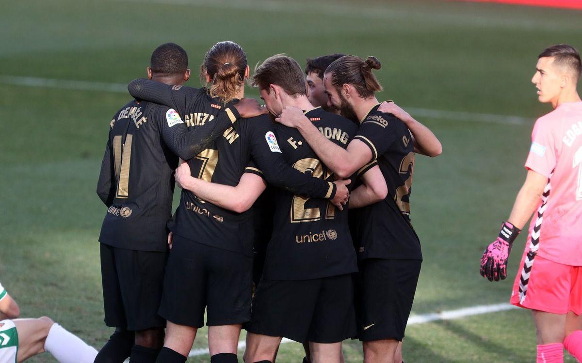 Elche - Barça : Reçus 5 sur 5 (0-2)
