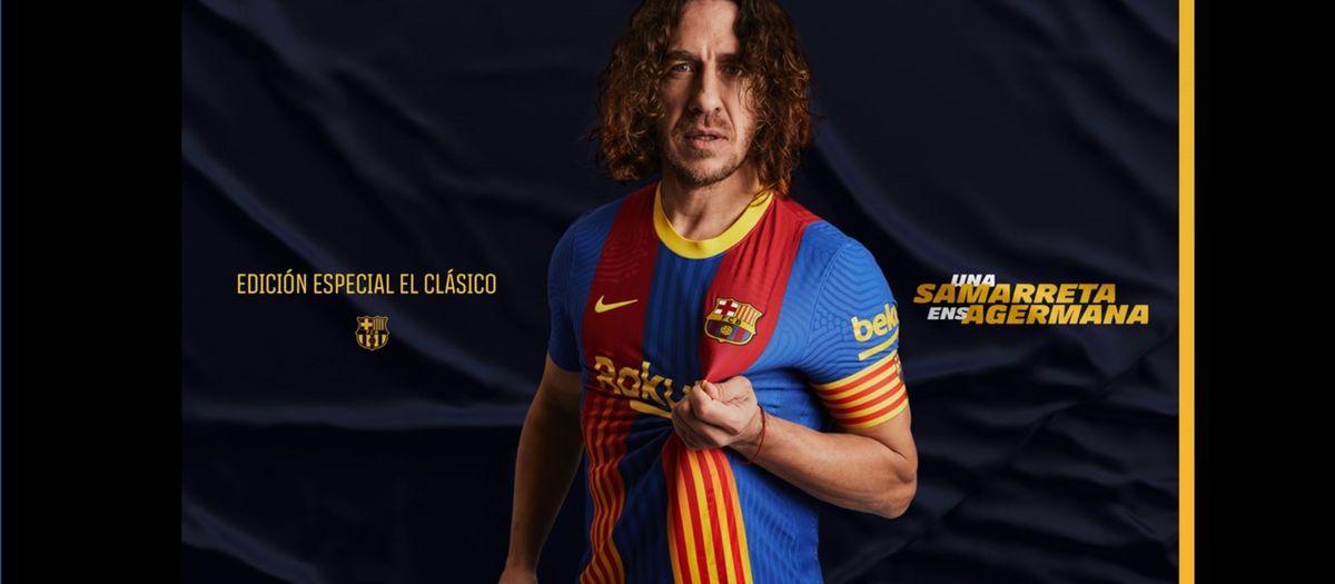El Barça une los colores blaugrana y las cuatro barras de la senyera en una camiseta de edición especial para El Clásico