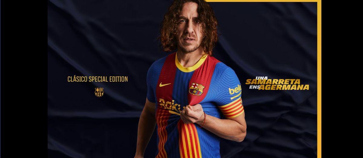 Le Barça unit les couleurs blaugrana et les quatre bandes du drapeau catalan sur un maillot édition spéciale pour le Clasico