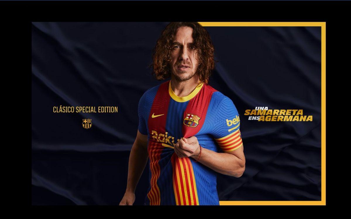 Barça combine blaugrana colours with Senyera flag in a special edition 'El Clásico' jersey