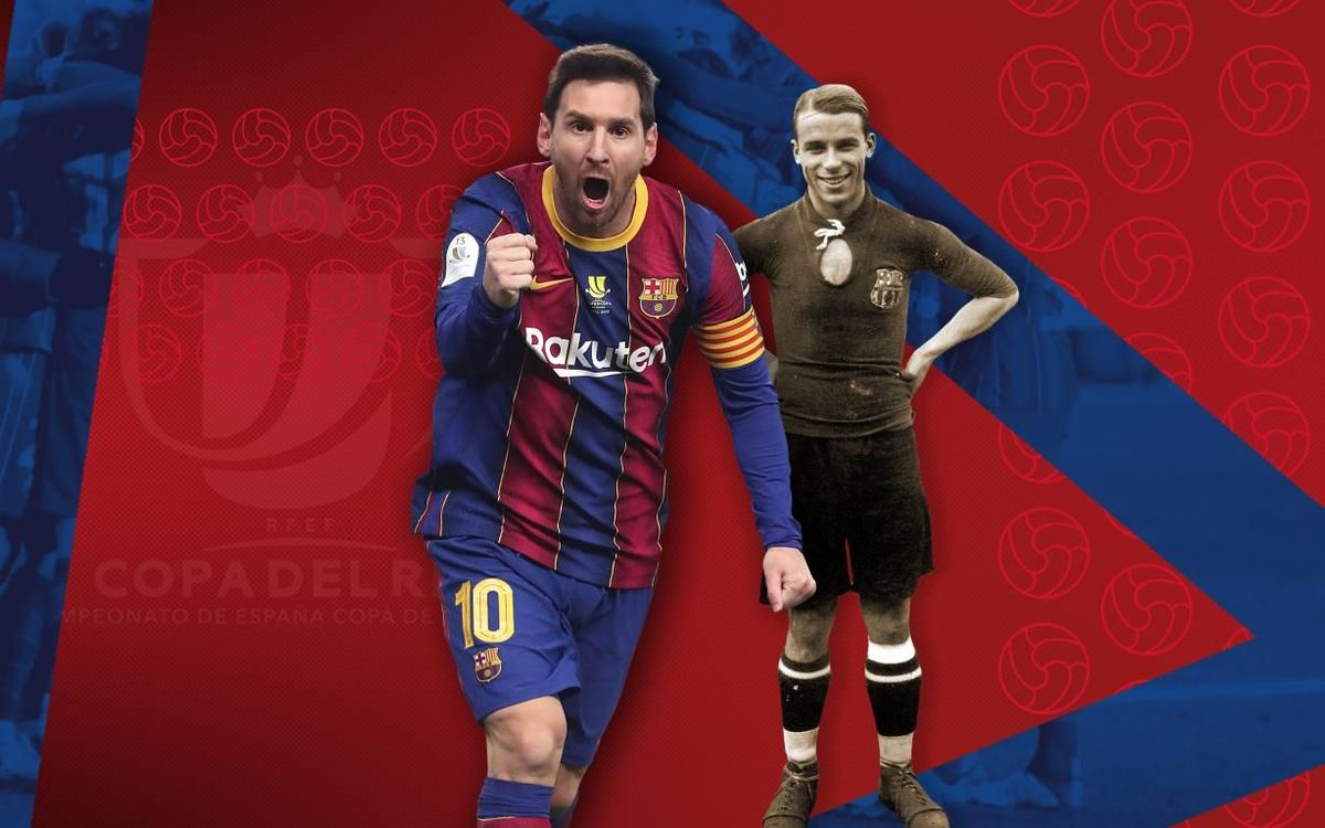 Messi surpasses Samitier as the Barça player with the most Copa del Rey matches played