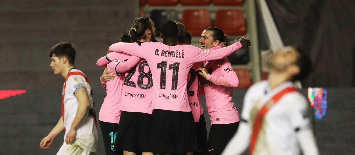Rayo Vallecano - Barça: Remuntada i cap a quarts (1-2)!