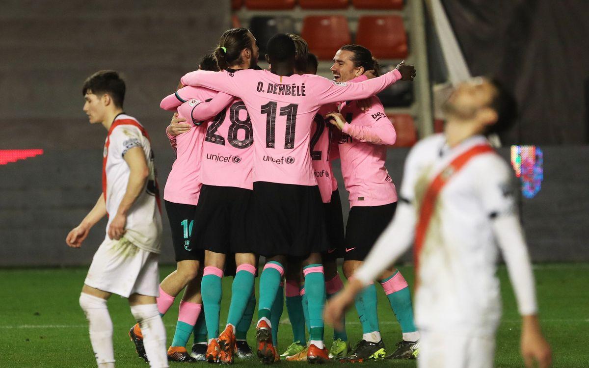 Rayo Vallecano 1-2 Barça: Safely through to the quarters