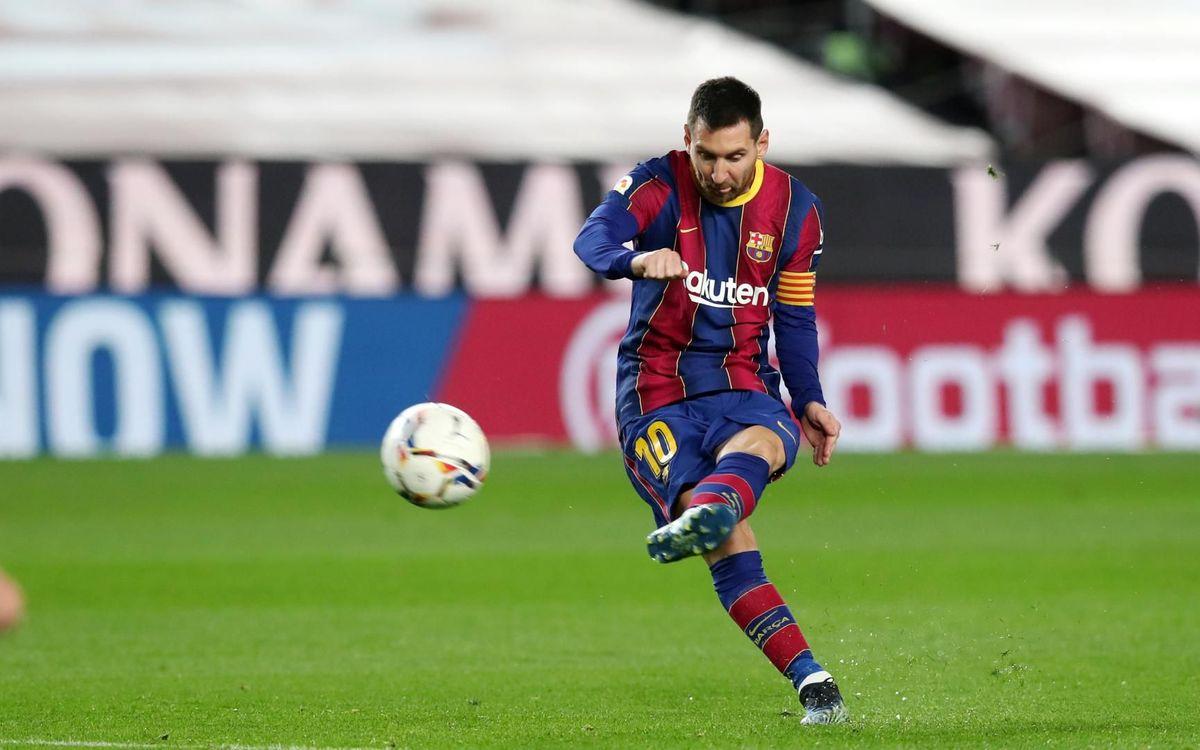 メッシ、FCバルセロナと共にFKで50ゴール
