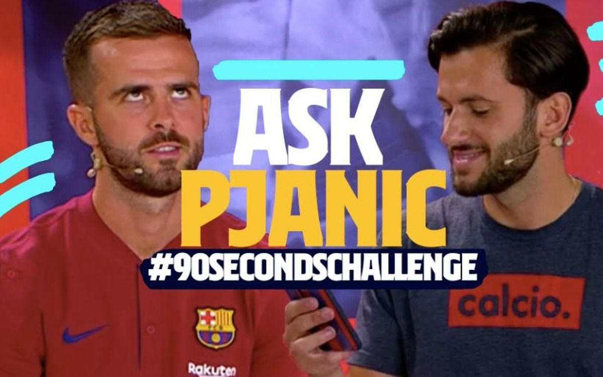 Miralem Pjanic takes the 90 second challenge