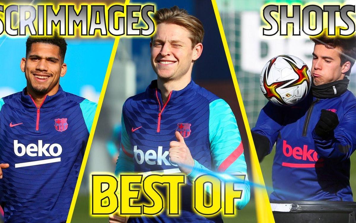 Le best-of des entraînements du Barça en janvier