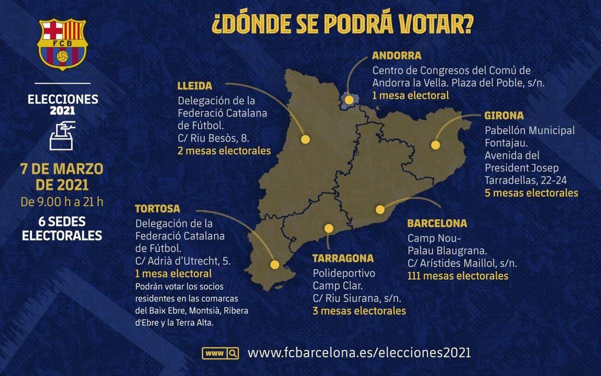 Consulta dónde podrás votar en las elecciones del 7 de marzo.