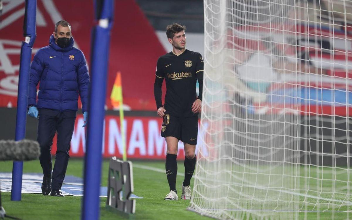 Sergi Roberto with thigh problem