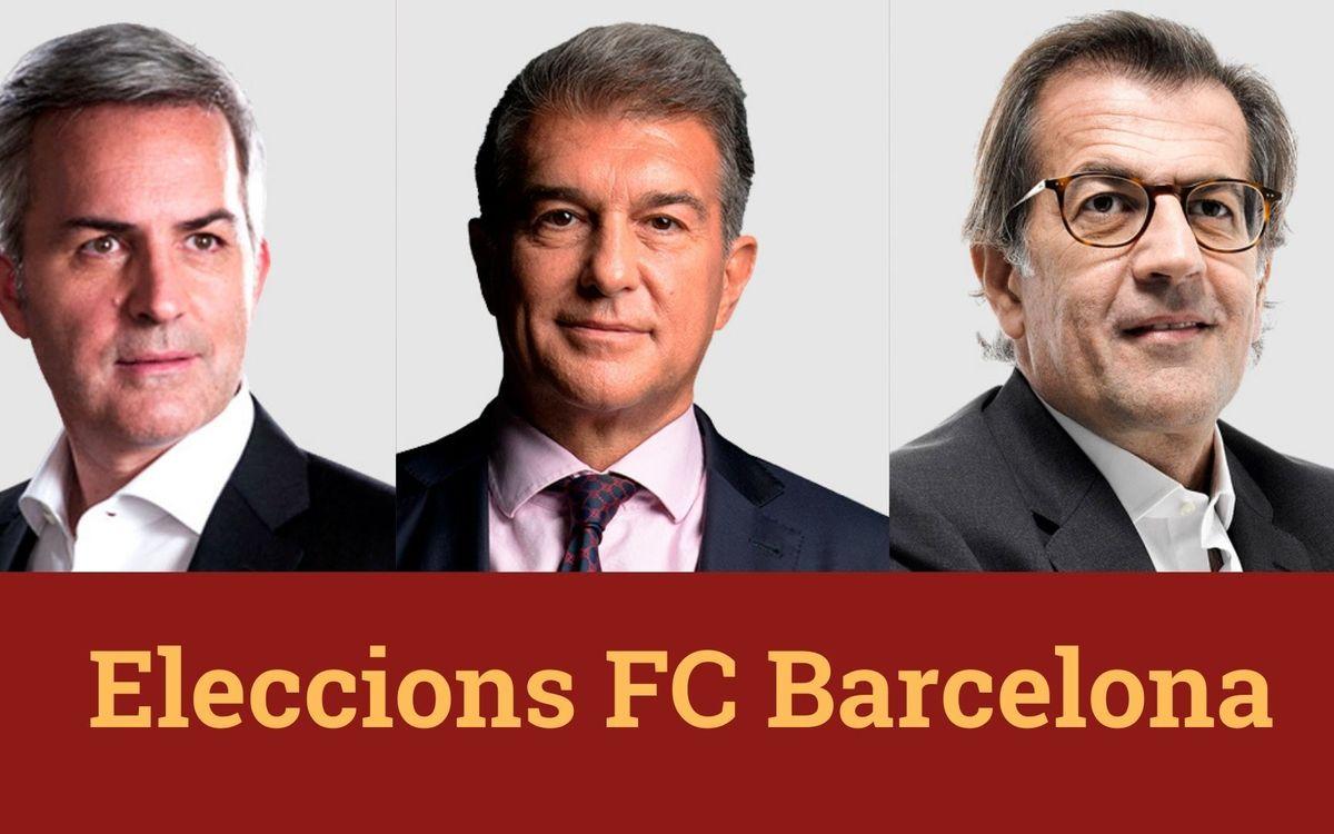 Trobades amb els candidats a presidir el FC Barcelona