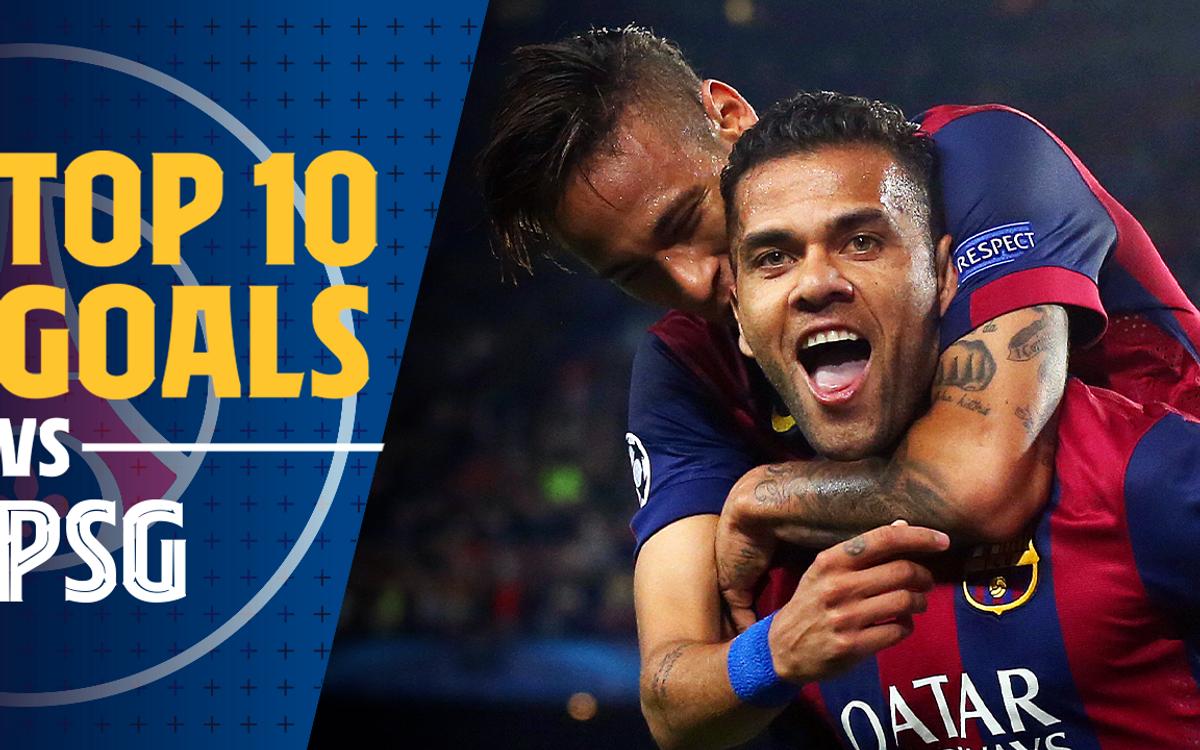 Le top 10 des buts du Barça contre le PSG