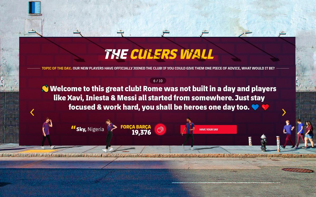 Why The Culers Wall is the feature you have always wanted