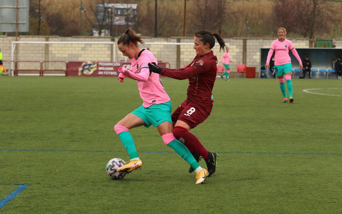 EDF Logroño - Barça Femenino: Victoria de récord (0-2)