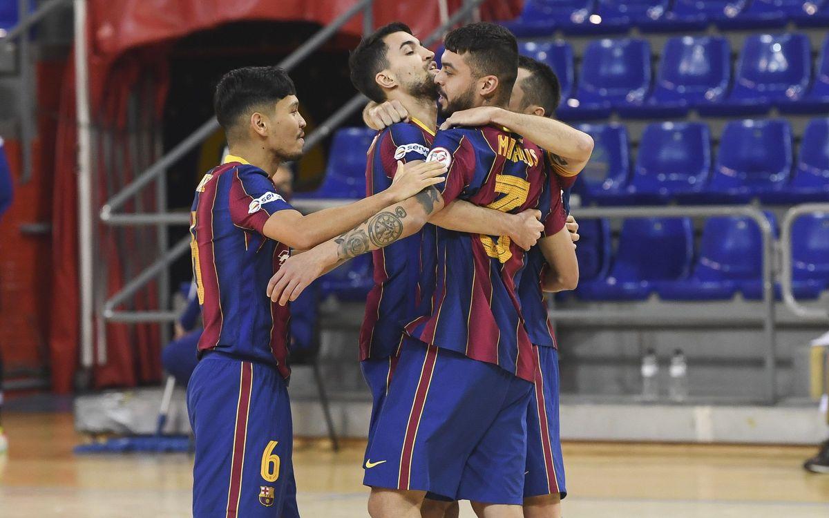 Barça 2-1 Palma Futsal: Slender victory