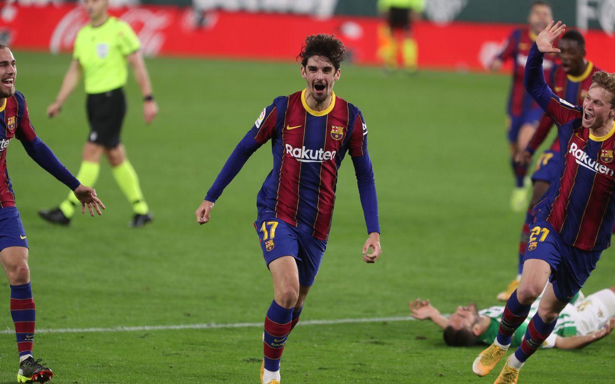 Betis - FC Barcelona: Trincão rescata los tres puntos del Villamarín (2-3)