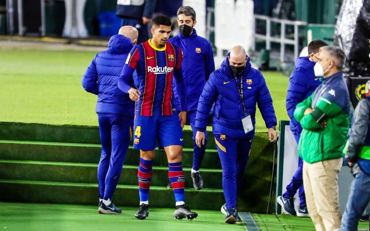Ronald Araujo souffre d'une entorse à la cheville