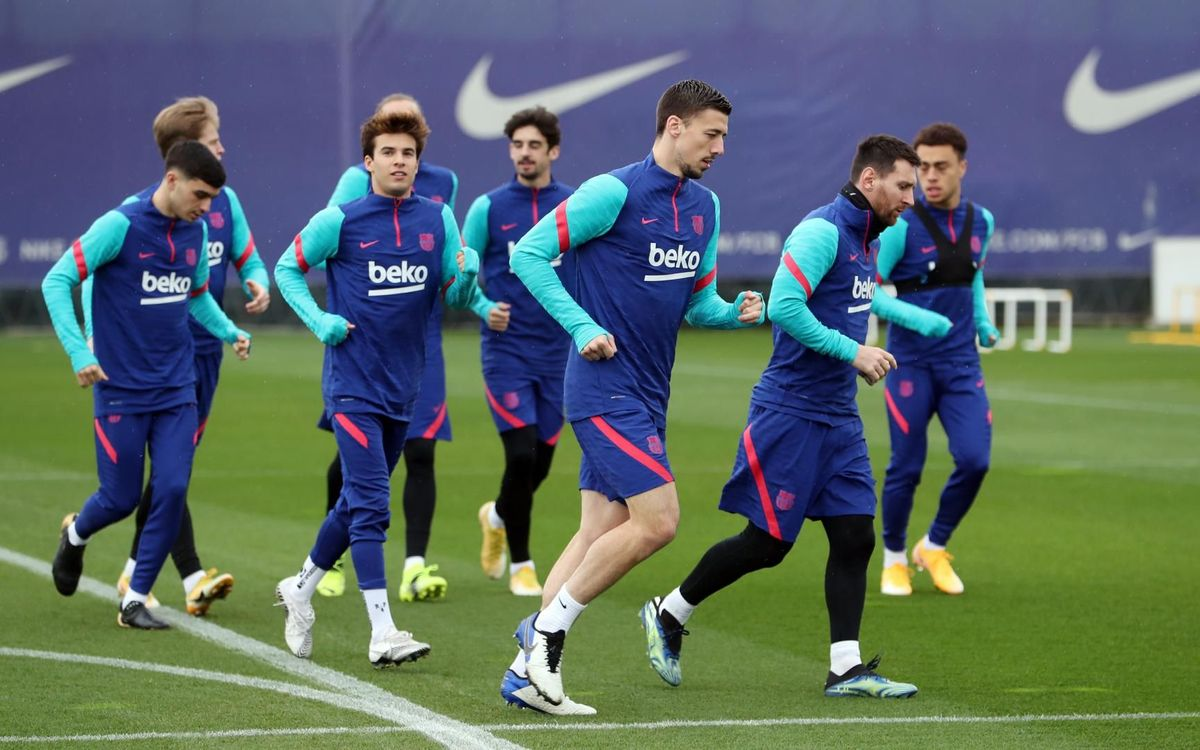 Recovery session after the win at Betis