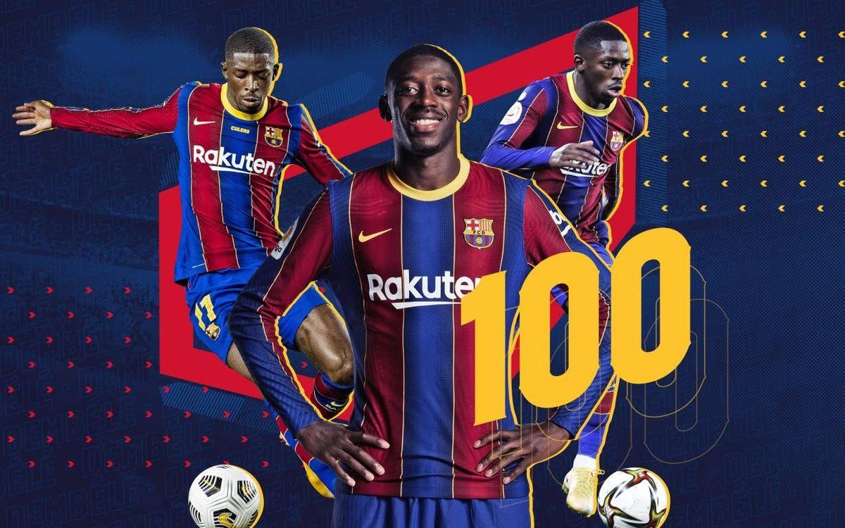 Dembélé reaches 100 appearances for FC Barcelona