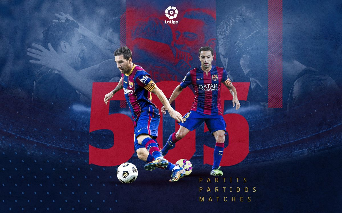 League record for Messi as he equals Xavi