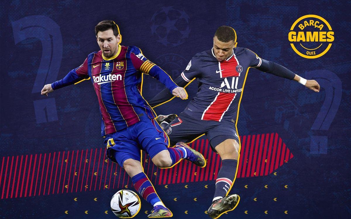 El quiz del FC Barcelona - París-Saint Germain