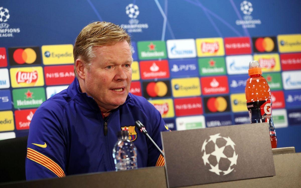 Ronald Koeman says Barça confident going into PSG tie