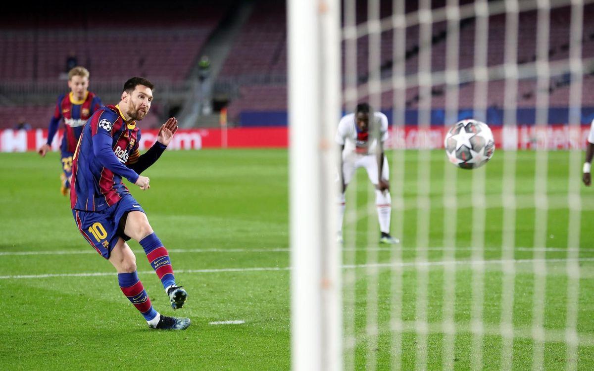 Messi, en el equipo ideal de la Champions 2020/21