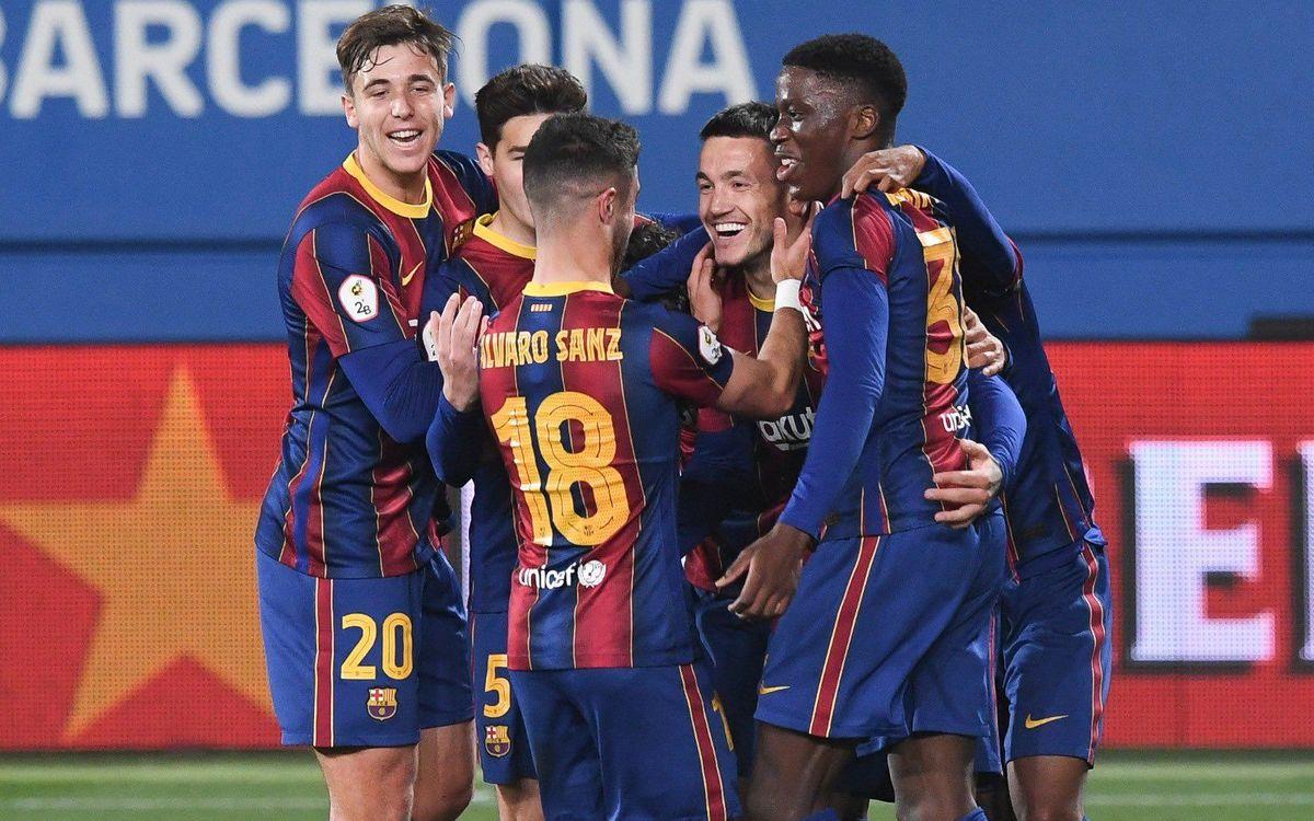 Barça B - L'Hospitalet: Golegen per assolir tres punts vitals (6-0)