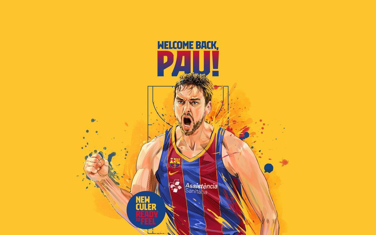 Pau Gasol back at Barça