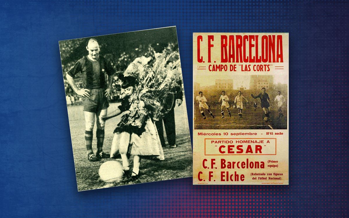 1958 game between Barça and Elche a homage to César