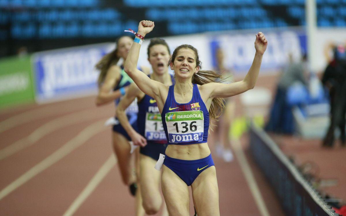 Tretze medalles al Campionat d'Espanya de pista coberta