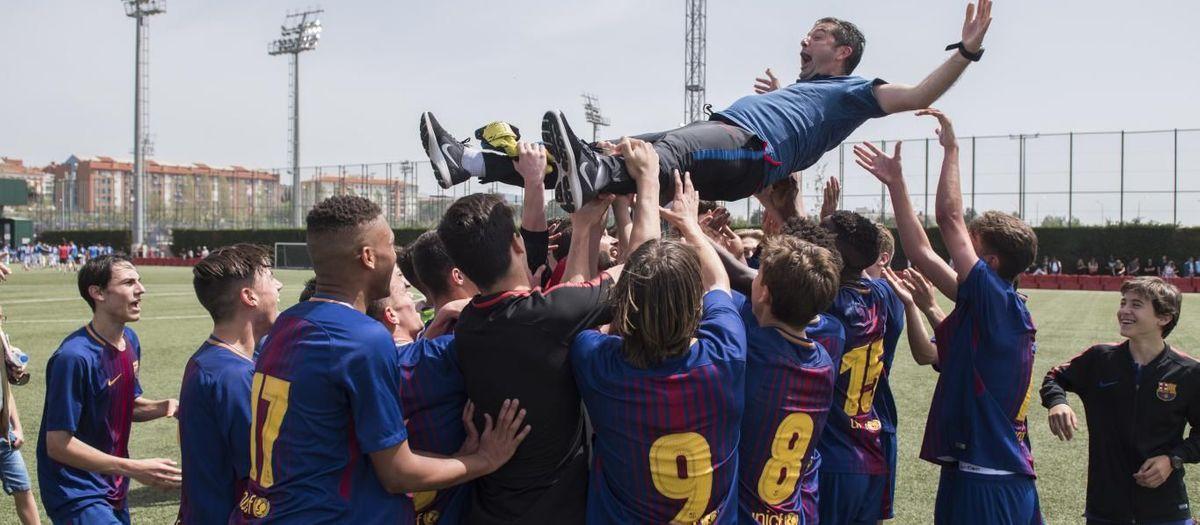 Franc Artiga's career through Barcelona's youth teams, in photos