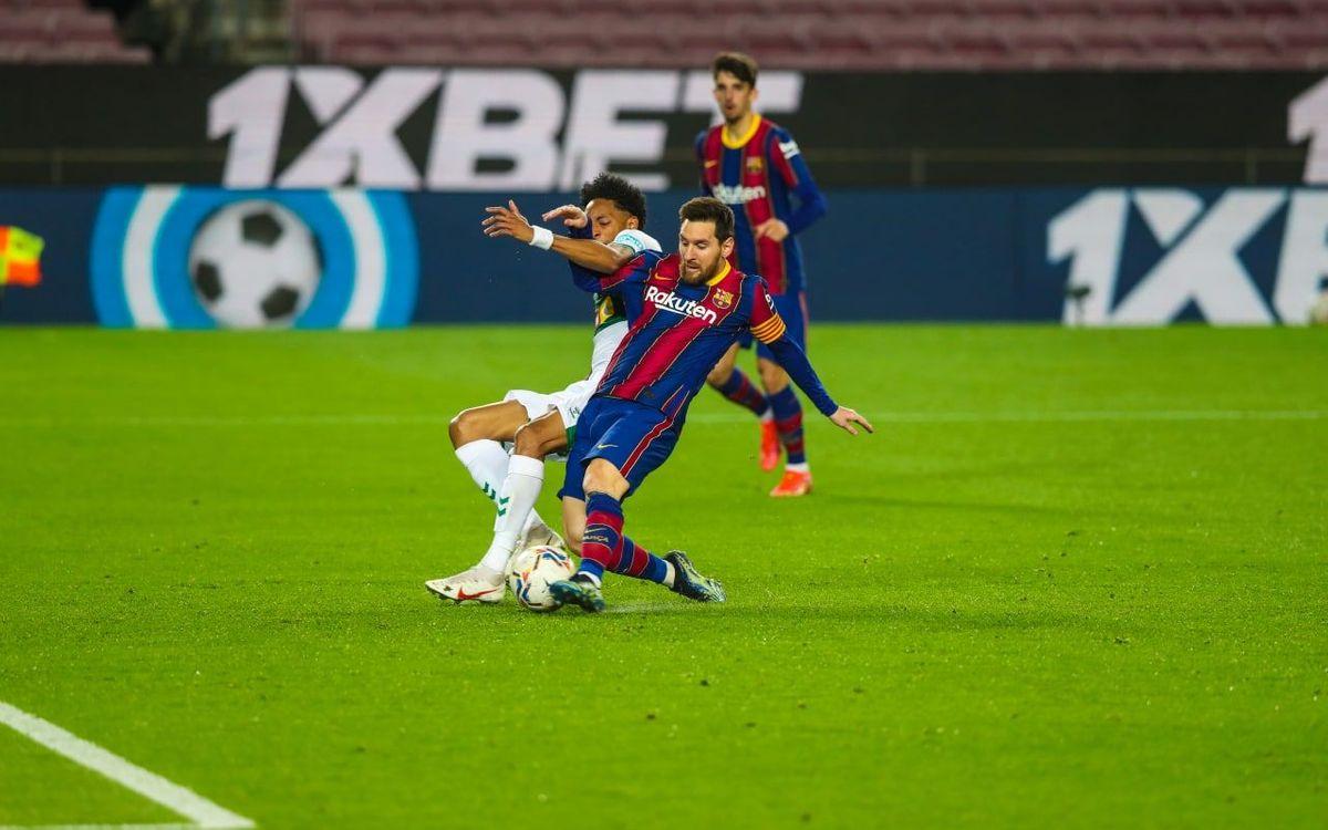 Messi, Pichichi en solitaire