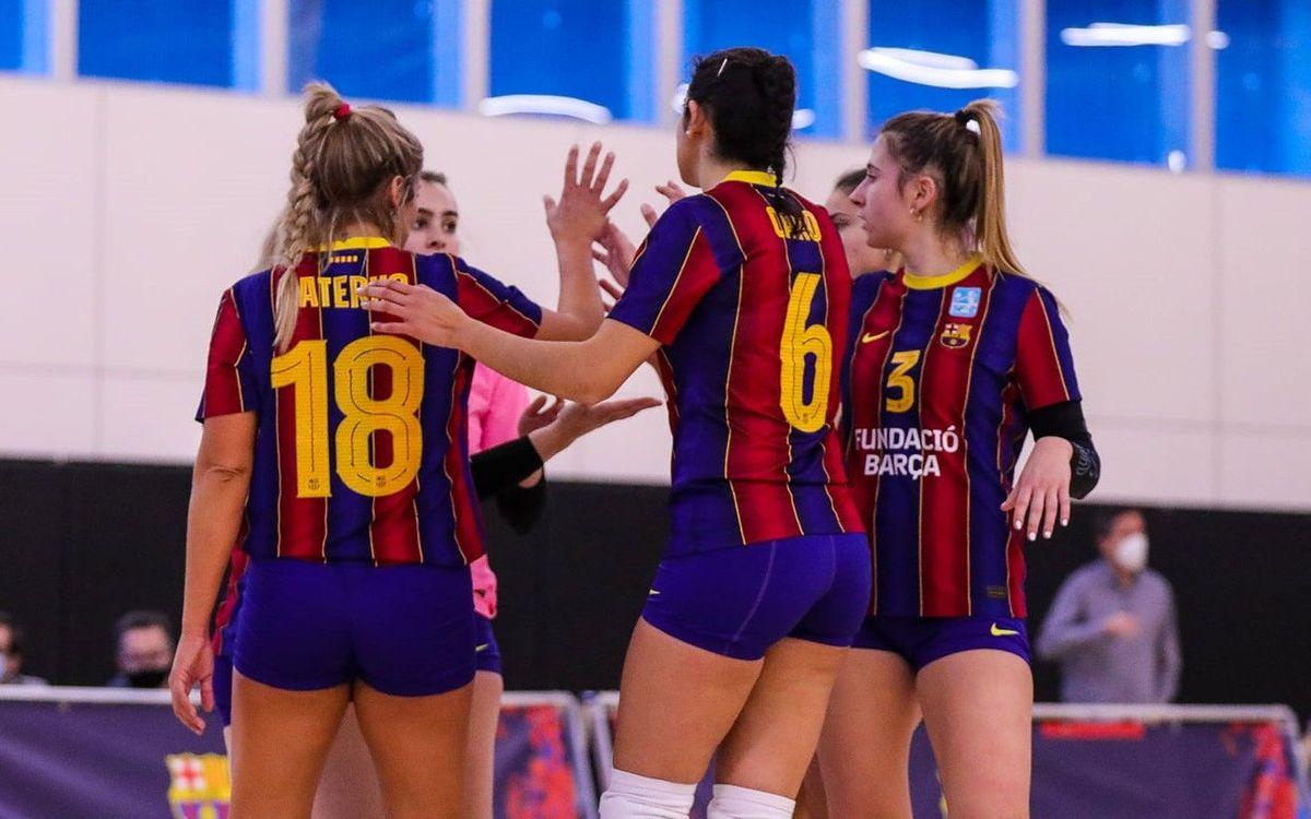 Liderat provisional per a les noies del Barça Vòlei
