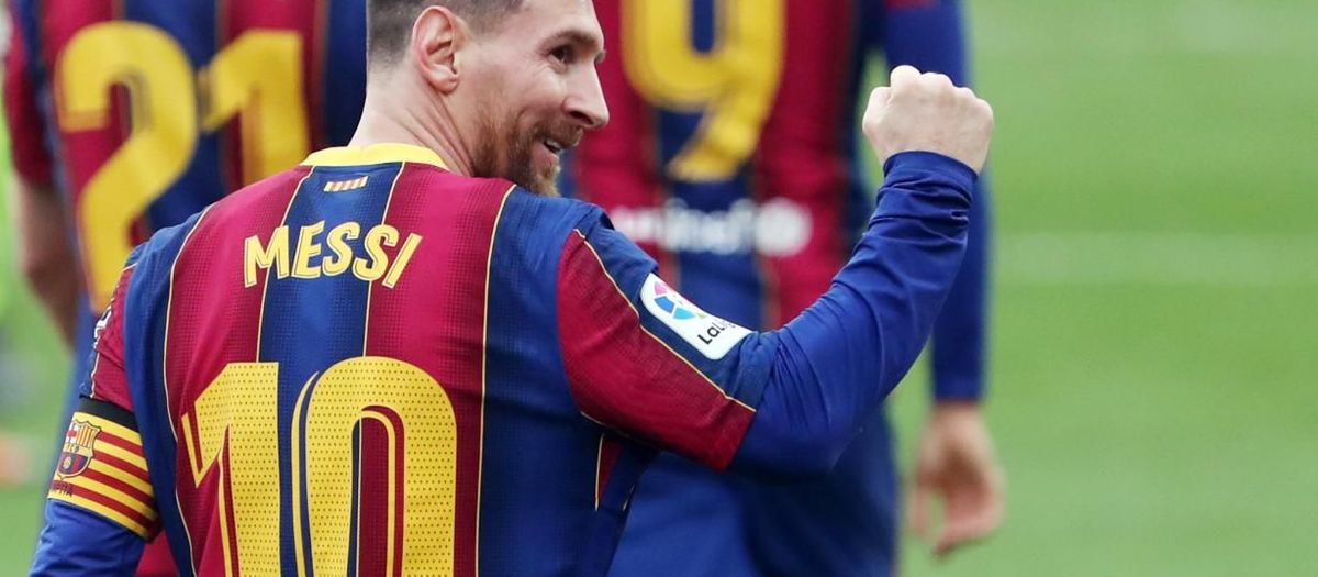 Leo Messi is the player of the month for February