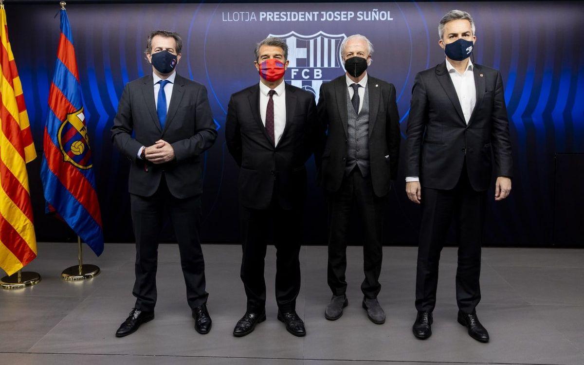 Els tres candidats a la presidència del Barça, a la Llotja