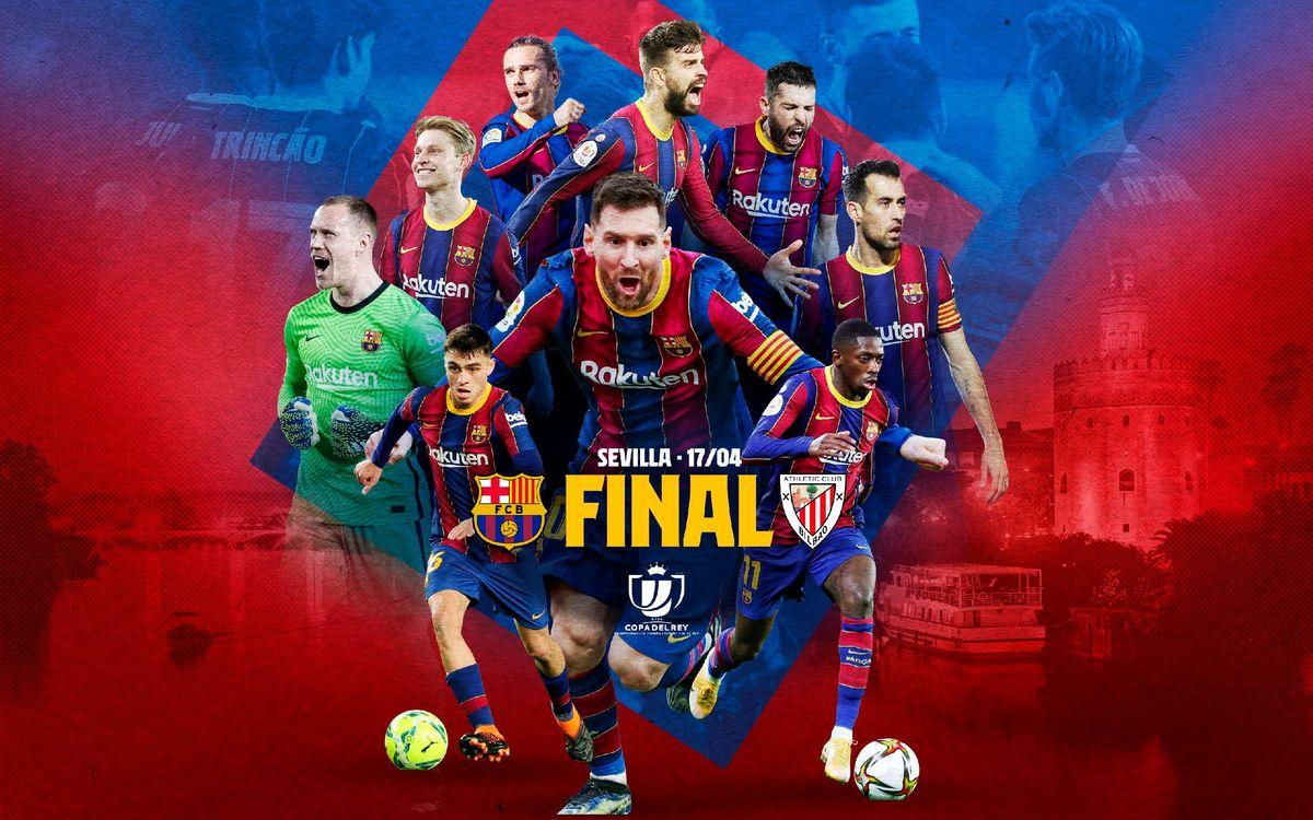 Athletic Club, Copa del Rey final opponents