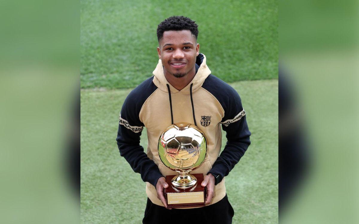 Ansu Fati, second in Golden Boy 2020