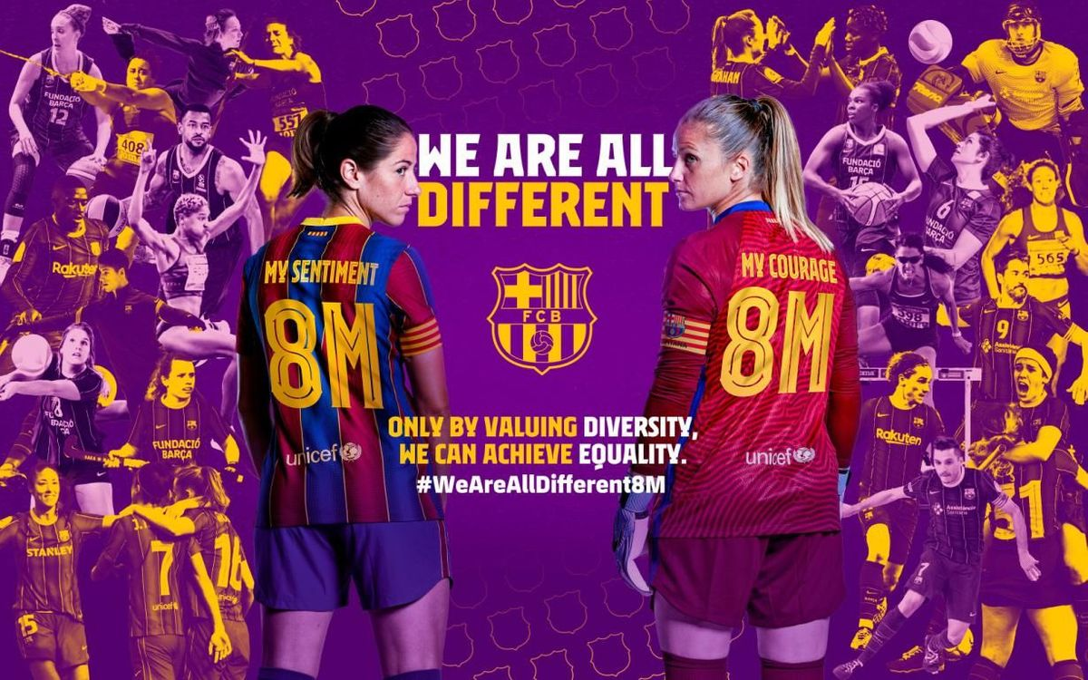 Barça Women and Men's teams to celebrate diversity on International Women's Day