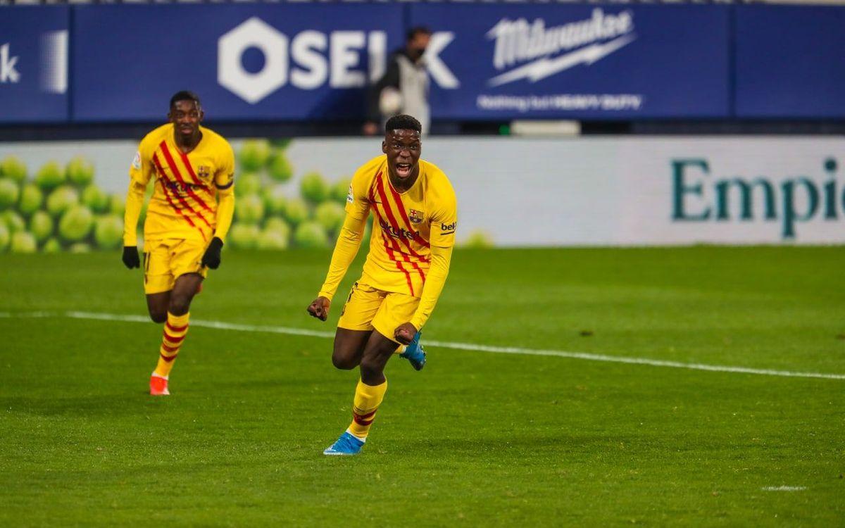 Ilaix Moriba scores first goal for FC Barcelona