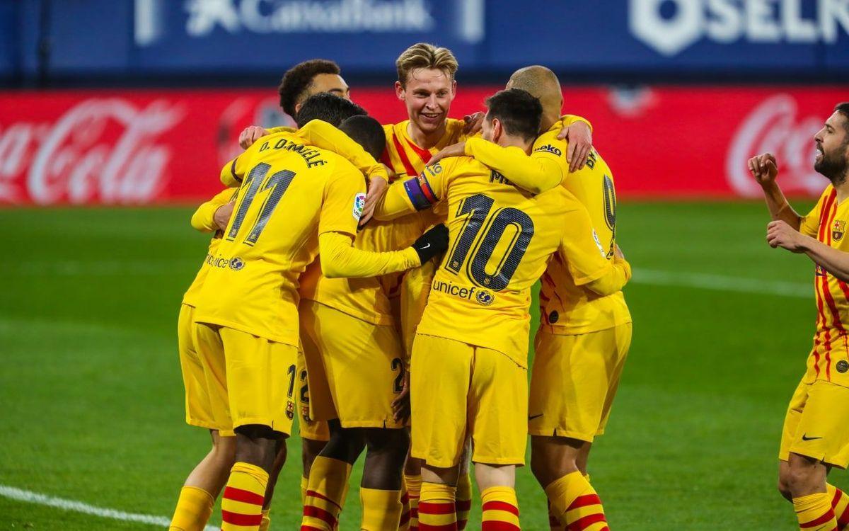 Osasuna - FC Barcelona: La racha sigue (0-2)