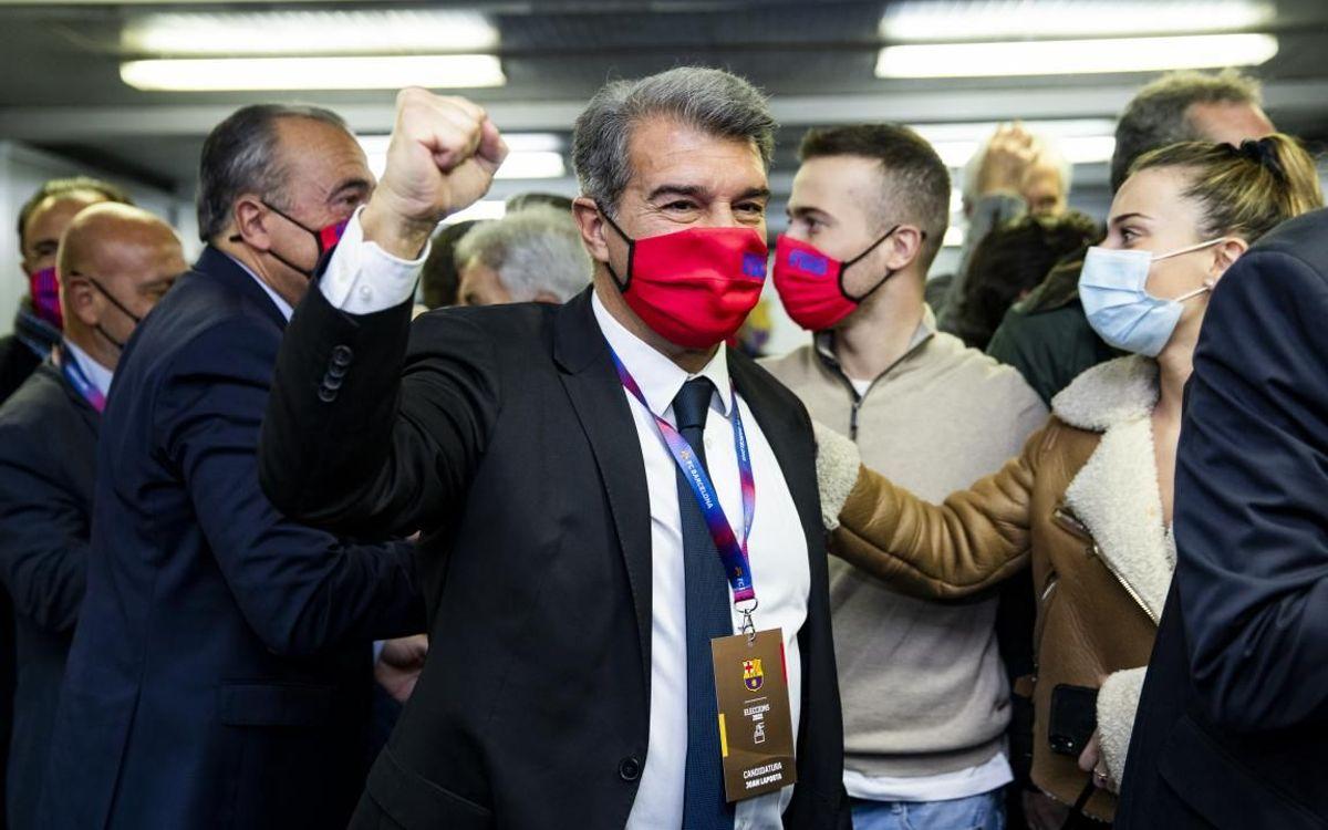 Joan Laporta, de nuevo presidente del FC Barcelona