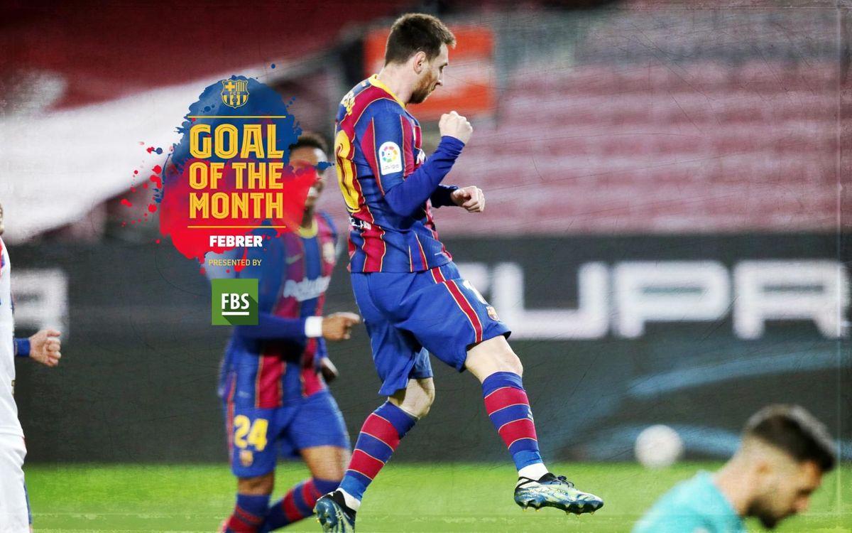 Messi, guanyador del 'Goal of the Month' del febrer
