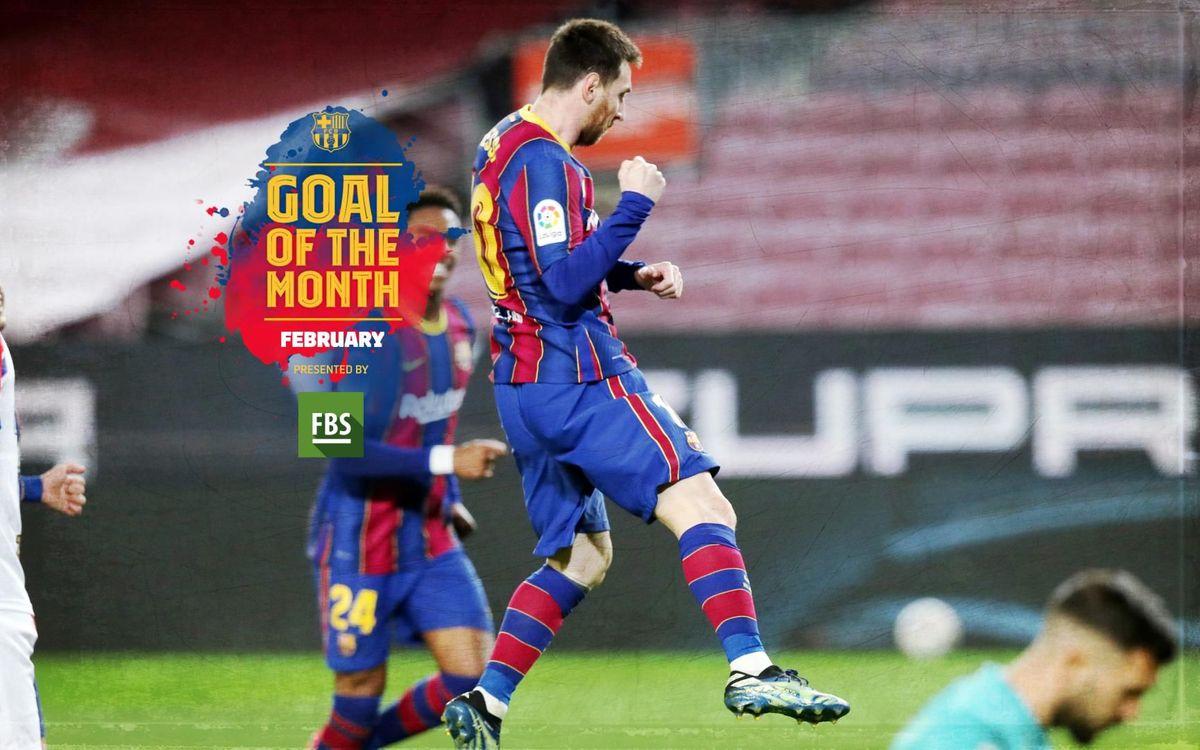 メッシ、2月の 'Goal of the Month' ベストゴール