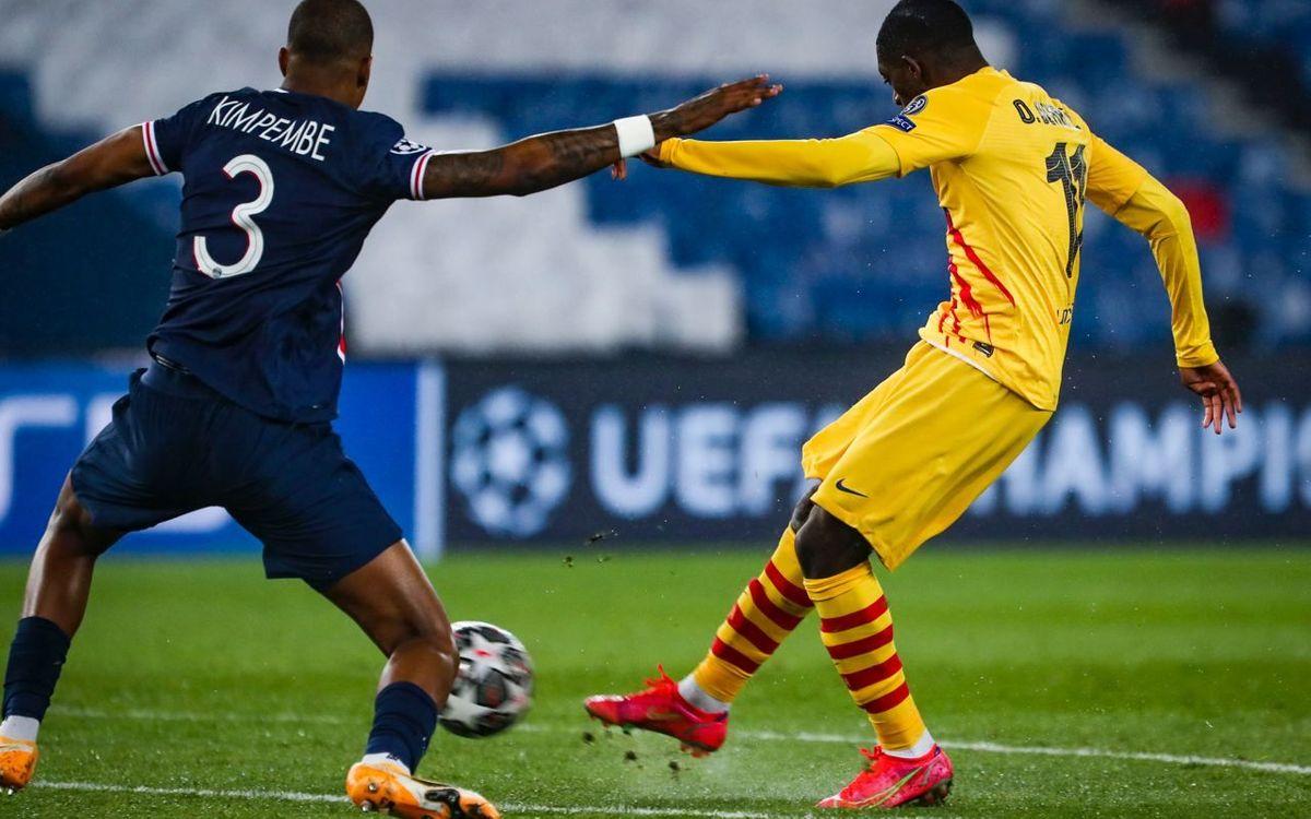 PSG – バルサ: 面を上げて敗退 (1-1)