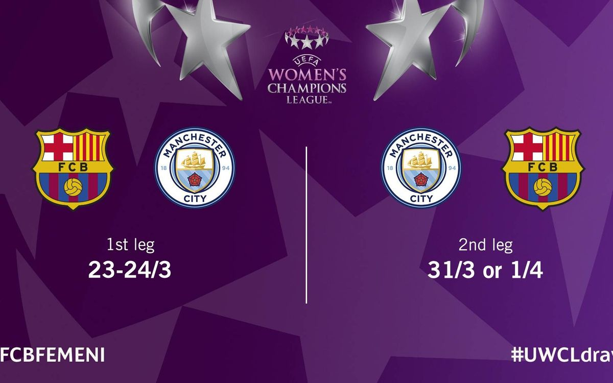 Barça Women to meet Manchester City in Champions League quarters