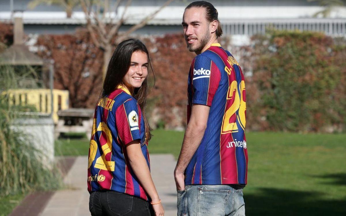 The Minguezas: Blaugrana siblings