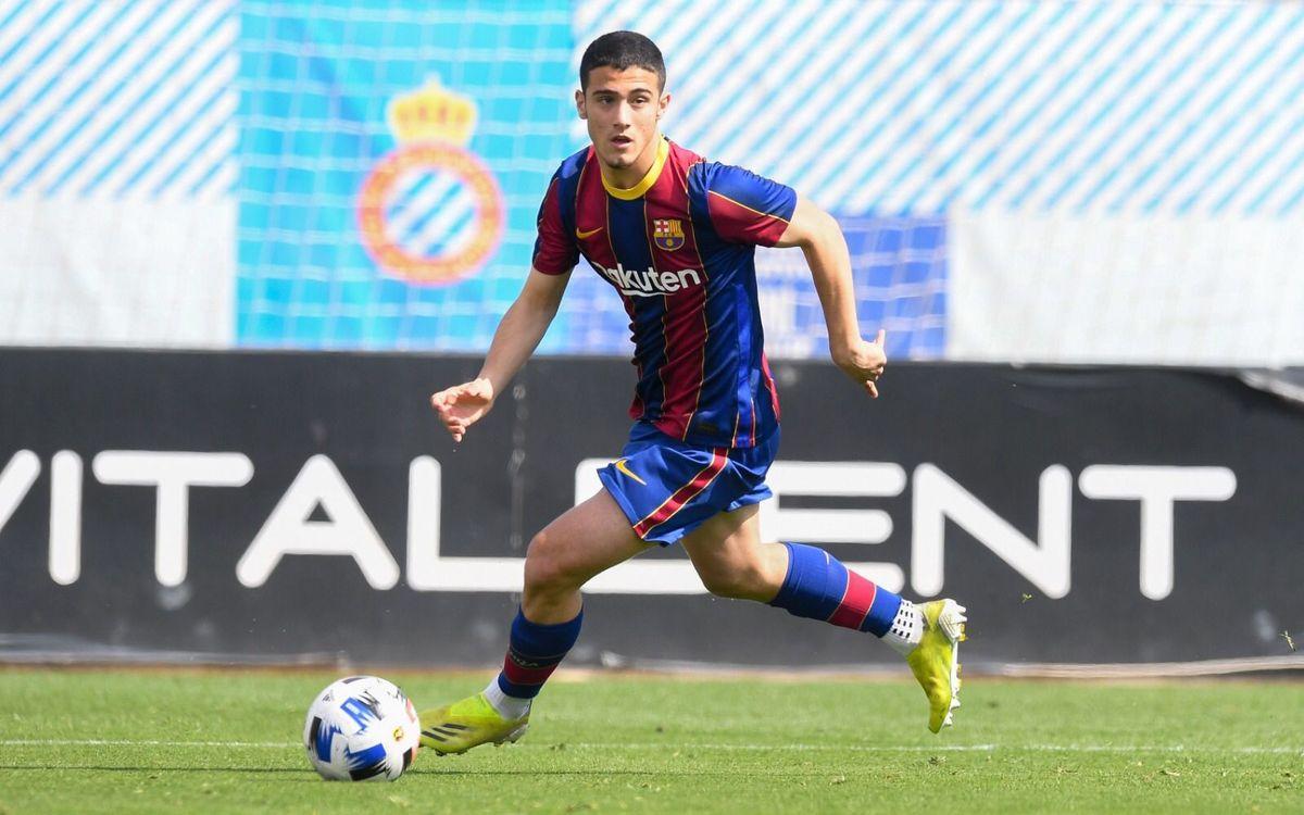 Ángel Alarcón, 15th U19 player to debut for Barça B under Garcia Pimienta